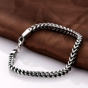 Other - Mens Stainless Steel Braided Cable End Cuff Bangle